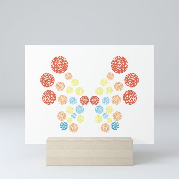 Vivillon Ocean Form Mini Art Print