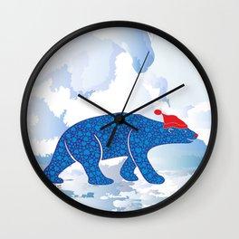 Polarbear in Love Wall Clock