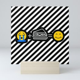 Sandwich Lover Emoji Funny Sandwiches Make me Happy Mini Art Print