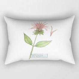 bee balm sketch Rectangular Pillow