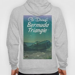Bermuda Triangle diving poster Hoody
