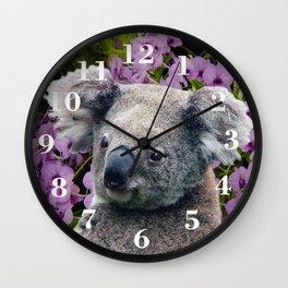 Koala and Coocktown Orchids Wall Clock