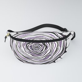 Watercolor Tree Ring, Purple Fanny Pack