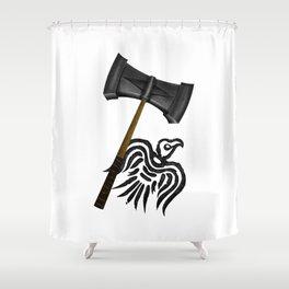 Thor Viking War Hammer Shower Curtain