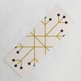 Mod Snowflake Olive Yoga Mat