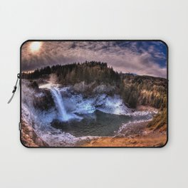 Waterfall from sky view Laptop Sleeve
