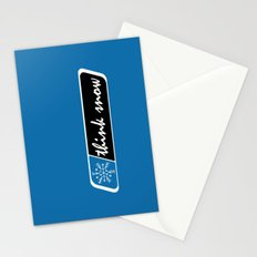 Think Snow Stationery Cards