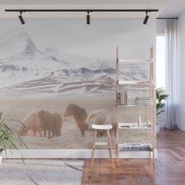 WILD AND FREE 3 - HORSES OF ICELAND Wall Mural