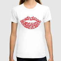 lip T-shirts featuring Red lip by saralucasi