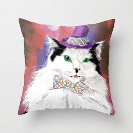 The Oreo Cat Throw Pillow
