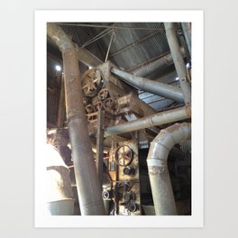 Cotton Gin Belts, Gears, and Wheels Art Print