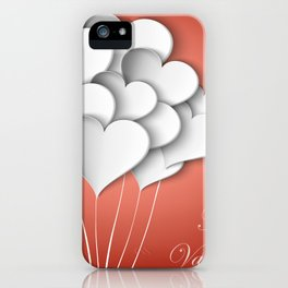 Balloons hearts from paper Valentine's Day iPhone Case