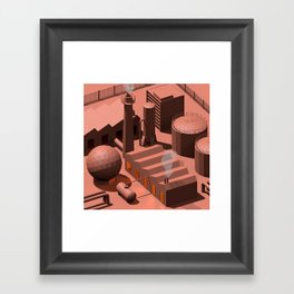Low Poly Industry Framed Art Print
