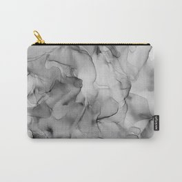 Black and White Marble Ink Abstract Painting Carry-All Pouch