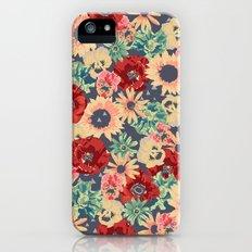 SEPIA FLOWERS -poppies, pansies & sunflowers- Slim Case iPhone (5, 5s)