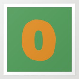 O is for Art Print