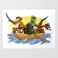 Them pirates! Art Print
