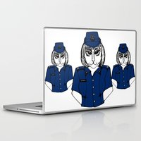 police Laptop & iPad Skins featuring Police Kitty by Sofy Rahman