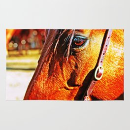 Horse-1-Color Rug