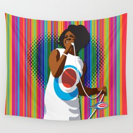 Gladys Subway Soul by Dawn Carrington Wall Tapestry