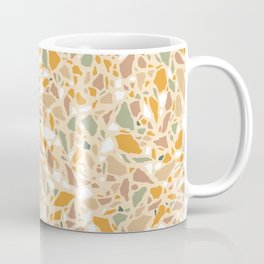 Terrazzo pattern in ochre and green Coffee Mug