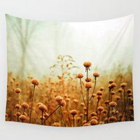 aqua Wall Tapestries featuring Daybreak in the Meadow by Olivia Joy StClaire