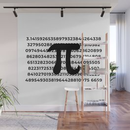 Pi Crunching Numbers Wall Mural