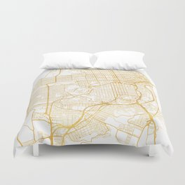 SAN FRANCISCO CALIFORNIA CITY STREET MAP ART Duvet Cover