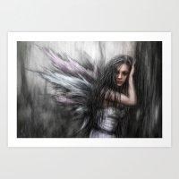 fairy Art Prints featuring Fairy by Justin Gedak