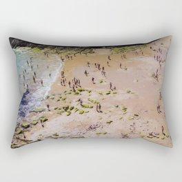 VISTA AEREA DE PLAYA CON GENTE Rectangular Pillow
