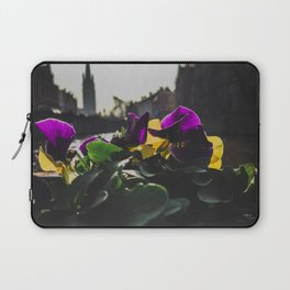 Bruges yellow and purple flowers Laptop Sleeve