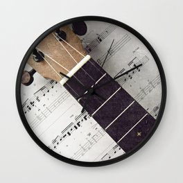 happy strings {ukulele Wall Clock