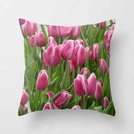 Easter Tulips in New York Throw Pillow