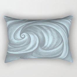 Swirl (Gray Blue) Rectangular Pillow