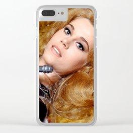 Beautiful Barbarella Clear iPhone Case