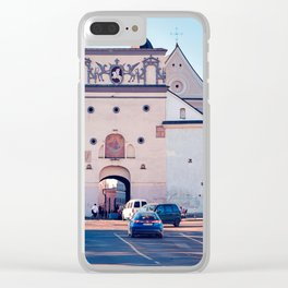 Ancient gate of Dawn into Old city Clear iPhone Case