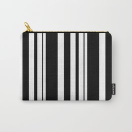 Black and white striped . Carry-All Pouch