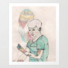 22.00 years old Art Print