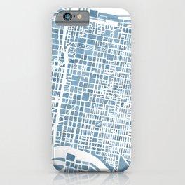 Philadelphia City Map iPhone Case