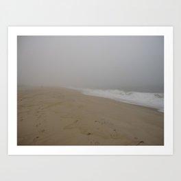 A Beach In A Storm Art Print