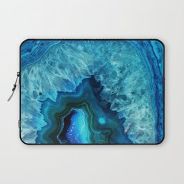 Bright Blue Agate Laptop Sleeve