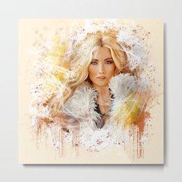 Blonde Beauty Metal Print