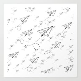 Paper Airplane 9 Art Print