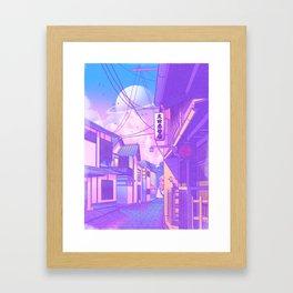 City Pop Kyoto Framed Art Print