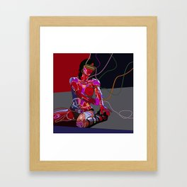 Jessica Biel 80s cyborg Framed Art Print