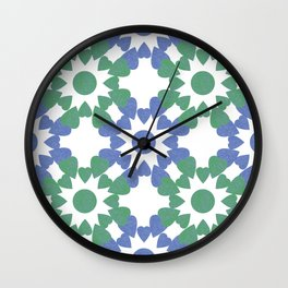 abstract background with flower and hearts Wall Clock