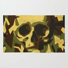 Camouflage skull Rug