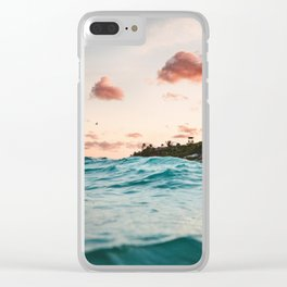 Waves at the sunset Clear iPhone Case