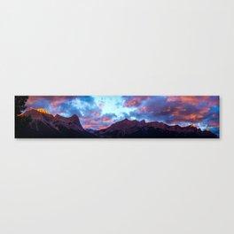 Mount Lawrence Grassi & Rundle Ridge Canvas Print