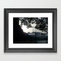 Over the Road Framed Art Print